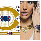 Tattify Metallic Gold Necklace Temporary Tattoo Jewels - 1 x A5 Sheet