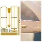 Tattify Minimal Yellow Gold Metallic Jewelry Temporary Tattoo - Keep It Simple, Stupid - (1 Sheet)