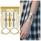 Tattify Metallic Gold Silver Bracelet Jewelry Temporary Tattoo - 1 x A5 Sheet