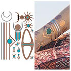 Tattify Metallic Copper Necklace Temporary Tattoo - 1 x A5 Sheet - Moon Child