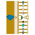 Tattify Metallic Temporary Tattoo Gems - On The Rocks - 1 x A5 Sheet