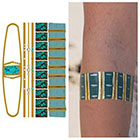 Tattify Metallic Gold Turquoise Temporary Tattoo - On The Rocks - 1 x A5 Sheet