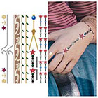 Tattify Metallic Temporary Tattoo - 1 x A5 Sheet - Seaside