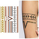 Tattify Rose Gold Copper Silver Metallic Temporary Tattoo - Shape Shifter (1 Sheet)