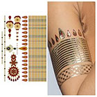 Tattify Indian Henna Metallic Temporary Tattoo (1 Sheet)