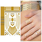 Tattify Metallic Gold Finger Jewelry Temporary Tattoo - 1 Sheet