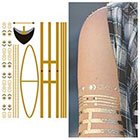 Tattify Metallic Yellow Gold Jewelry Temporary Tattoo - 1 Sheet