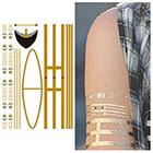 Tattify Metallic Yellow Gold Jewelry Temporary Tattoo - 1 Sheet
