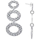 Target Silver Plated Hammered Drop Earrings