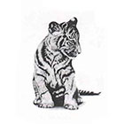 Soma Art Tattoo Asian Tiger Temporary Tattoo - SomaArtTattoo Temporary Tattoo - wrist quote tattoo body sticker fake tattoo wedding tattoo small tattoo