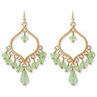 Target Chandelier Earrings with Beads - Green