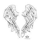 Wickedly Lovely Angel Wings, Wickedly Lovely Skin Art Temporary Tattoo
