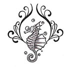 Soma Art Tattoo Custom Seahorse Temporary Tattoo -SomaArtTattoo Temporary Tattoo - wrist quote tattoo body sticker fake tattoo small tattoo