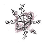 Soma Art Tattoo Custom Compass Temporary Tattoo -SomaArtTattoo Temporary Tattoo - wrist quote tattoo body sticker fake tattoo small tattoo