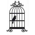 Soma Art Tattoo Bird in Cage Temporary Tattoo - SomaArtTattoo Temporary Tattoo - wrist quote tattoo body sticker fake tattoo small tattoo