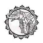 Soma Art Tattoo Custom My Lucky Elephant Temporary Tattoo -SomaArtTattoo Temporary Tattoo - wrist quote tattoo body sticker fake tattoo small tattoo
