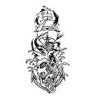 Soma Art Tattoo Custom Boat with Skull Anchor Temporary Tattoo -SomaArtTattoo Temporary Tattoo - wrist quote tattoo body sticker fake tattoo small tattoo