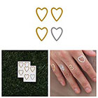 Tattify A Little Love - Metallic Heart Temporary Tattoo (Set of 8)
