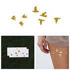 Tattify Flock Yeah - Metallic Gold Temporary Tattoo (Set of 2)