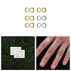 Tattify Forever - Metallic Gold/ Silver Temporary Tattoos (Set of 12)