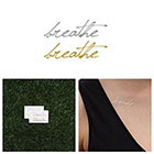 Tattify Breathe Gold/ Silver Metallic Temporary Tattoo (Set of 4)