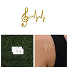 Tattify Lifeline - Metallic Gold Temporary Tattoo (Set of 2)