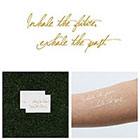 Tattify Smoking - Metallic Gold Inspirational Quote Temporary Tattoo (Set of 2)