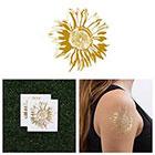 Tattify Sunflower - Metallic Gold Temporary Tattoo (Set of 2)