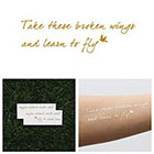 Tattify Blackbird - Metallic Gold Temporary Tattoo (Set of 2)