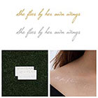 Tattify Bohemia - Metallic Quote Temporary Tattoo (Set of 4)