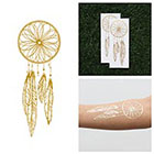 Tattify Catch - Metallic Gold Dreamcatcher Temporary Tattoo (Set of 2)