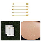 Tattify Dart Set - Metallic Gold Arrows Temporary Tattoo (Set of 2)