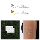 Tattify Metallic Gold / Silver Believe Temporary Tattoo (Set of 4)