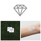Tattify Hidden Gem - Metallic Silver Temporary Tattoo (Set of 4)