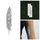 Tattify Inkling - Metallic Silver Temporary Tattoo (Set of 2)