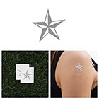 Tattify Naval Star - Metallic Temporary Tattoo (Set of 2)