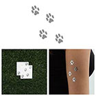 Tattify On Track - Metallic Silver Temporary Tattoo (Set of 2)