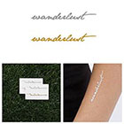 Tattify Wanderlust Metallic Gold/ Silver Temporary Tattoo (Set of 4) in