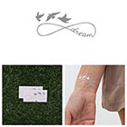 Tattify Weightless - Metallic Silver Temporary Tattoo (Set of 2)