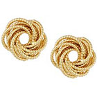 RJ Graziano Beaded Knot Button Earrings in GOLD