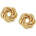RJ Graziano Beaded Knot Button Earrings in GOLD