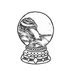 Soma Art Tattoo Custom Snail in the Magic Ball Temporary Tattoo -SomaArtTattoo Temporary Tattoo - wrist quote tattoo body sticker fake tattoo small tattoo
