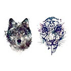 Tattoo LifeStyle Sets wolf and tiger temporary tattoos
