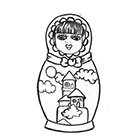 Soma Art Tattoo Matryoshka Doll Temporary Tattoo - SomaArtTattoo Temporary Tattoo - wrist quote tattoo body sticker fake tattoo wedding tattoo small tattoo