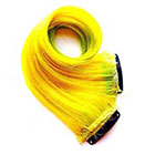 CandyAppleLocks Hair Extensions, Neon Clip in Hair, Human Hair Extension, Ombre, Tye Dye
