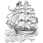 Ombeyond EMPORARY TATTOO - Vintage Ship / Pirate Ship