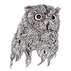 TattooNbeyond Temporary Tattoo - Vintage Owl