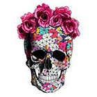 Pepper Ink Skull Temporary Tattoo Floral