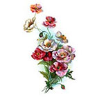Pepper Ink vintage poppies floral temporary tattoo