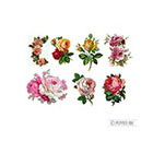 Pepper Ink vintage roses - 7 temporary tattoos pack - rose tattoo, vintage tattoo, mothers day,